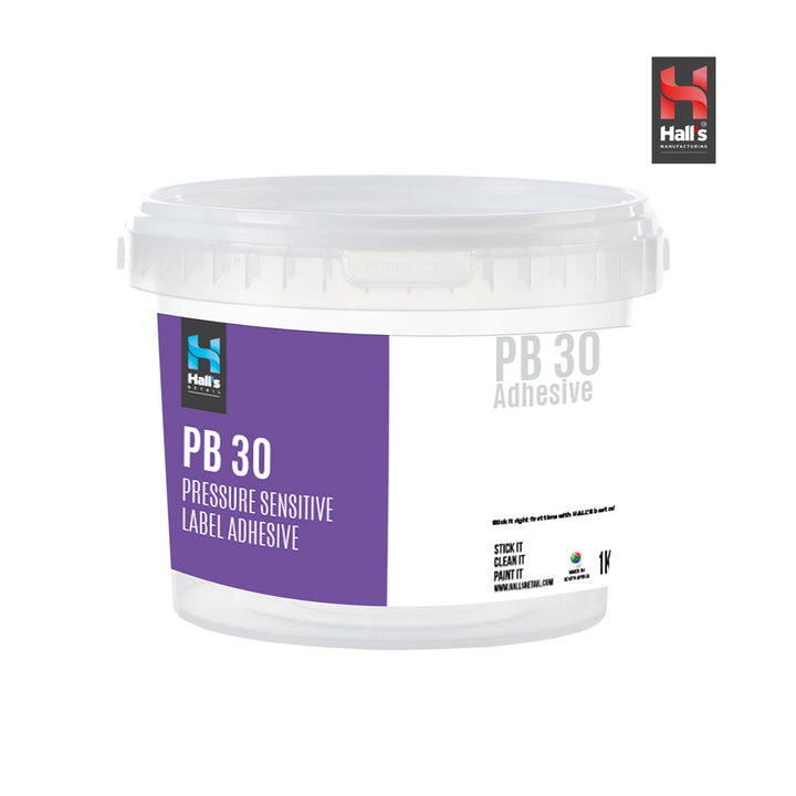 Pb30 Plastic Bucket Label Adhseive - Hall's Retail