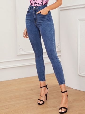 Cat Whiskers Skinny Jeans Without Belt