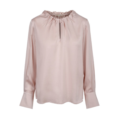BLOUSE W PLEATS