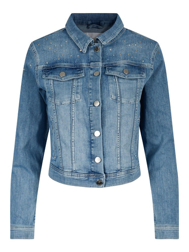 DENIM JACKET WITH STRASS