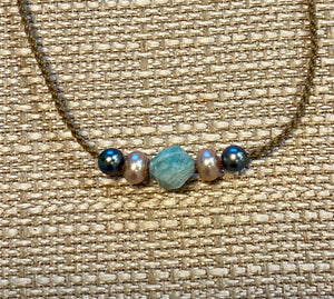 Tula Blue Mixed Bohemian Necklaces