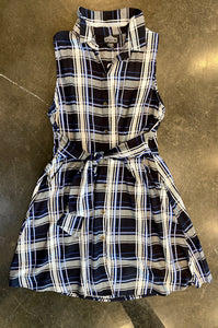 PLAID DRESS W/ POCKETS