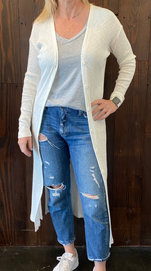 TEXTURED RIB DUSTER