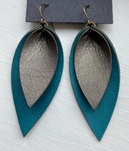 Load image into Gallery viewer, Layered Leaves (Small) Leather Earrings