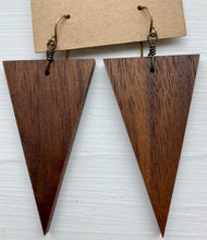 Load image into Gallery viewer, Triangle Wood Earrings