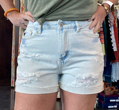 HAZEL DISTRESSED SHORTS