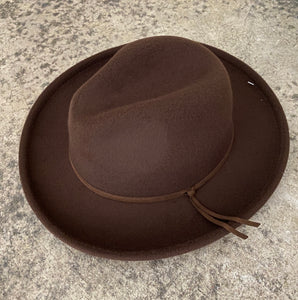 CARTER FEDORA IN BROWN
