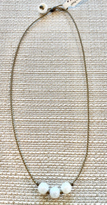 Freshwater Pearl Triples Necklace