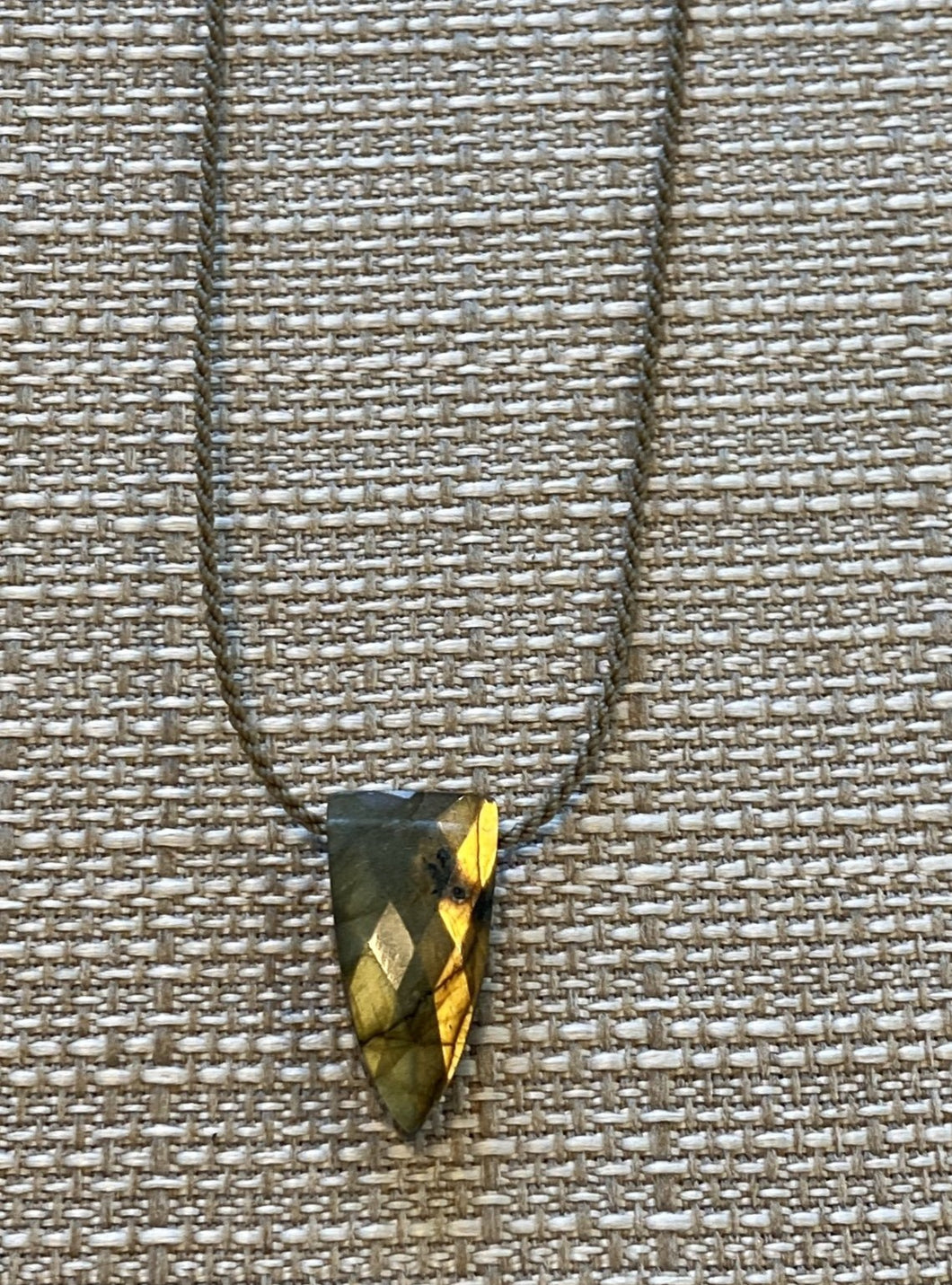 Labradorite Pyramid Necklace