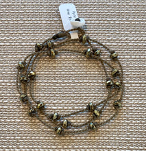 Load image into Gallery viewer, Pyrite Wrap Bracelet