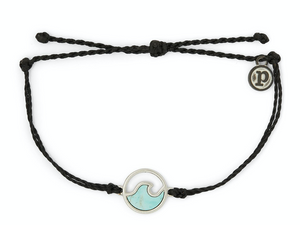 Stone Wave Bracelet in Black