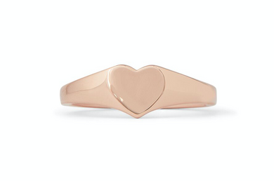 HEART SIGNET ROSE GOLD RING