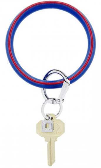 blue me away leather key ring