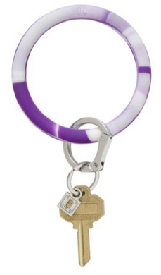 deep purple marble silicOne key ring