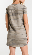 Load image into Gallery viewer, CAMO SPLIT NECK DRESS