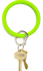 in the grass bright silicOne key ring