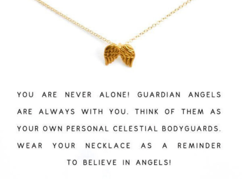 GUARDIAN ANGEL NECKLACE GOLD DIPPED