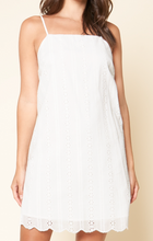 Load image into Gallery viewer, BLOSSOM EYELET SHIFT DRESS