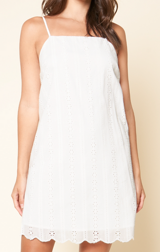 BLOSSOM EYELET SHIFT DRESS