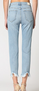 THE ZOEY LIGHT BLUE MOM JEANS