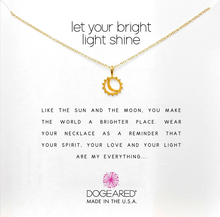 Load image into Gallery viewer, LET YOUR BRIGHT LIGHT SHINE NECKLACE IN GOLD DIPPED