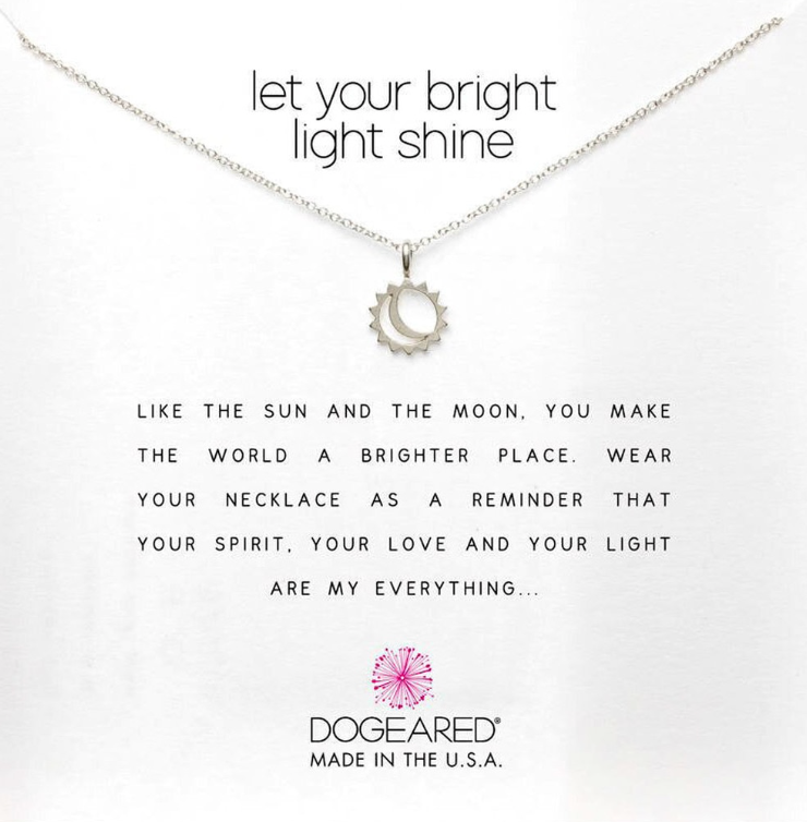 LET YOUR BRIGHT LIGHT SHINE NECKLACE IN STERLING SILVER
