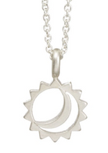 Load image into Gallery viewer, LET YOUR BRIGHT LIGHT SHINE NECKLACE IN STERLING SILVER