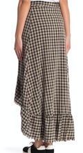 Load image into Gallery viewer, GINGHAM WRAP RUFFLE SKIRT