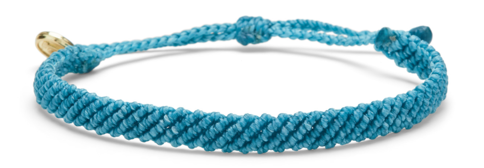 HALF FLAT WOVEN BRACELET IN PACIFIC BLUE