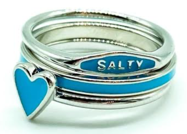 SALTY ENAMEL STACK RING SET