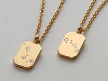 Load image into Gallery viewer, BIG DIPPER LITTLE DIPPER NECKLACE SET