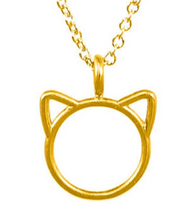 Load image into Gallery viewer, MEOW CAT CHARM NECKLACE, GOLD DIPPED