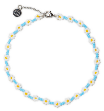 FLOWER SEED BEAD ANKLET