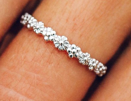 FLORAL STACKING RING