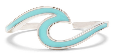 ENAMEL WAVE TOE RING