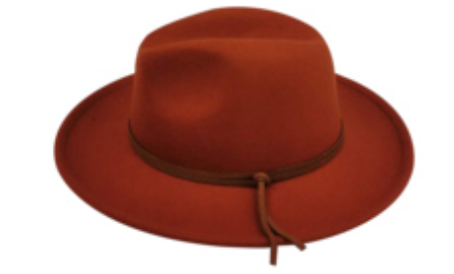 CARTER FEDORA IN RUST