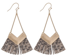 Load image into Gallery viewer, FAUX SNAKESKIN TASSELS