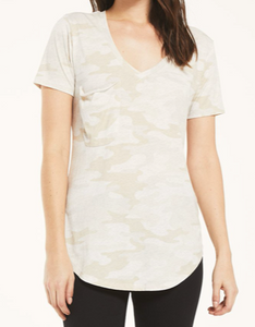 POCKET CAMO TEE IN OATMEAL
