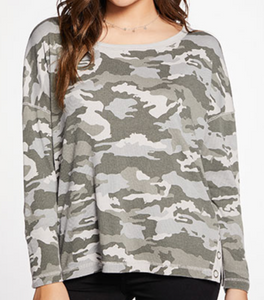 CAMOUFLAGE RIB PULLOVER