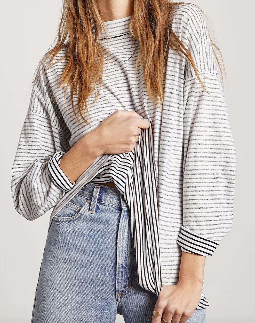 We The Free Be Free Stripe Tunic