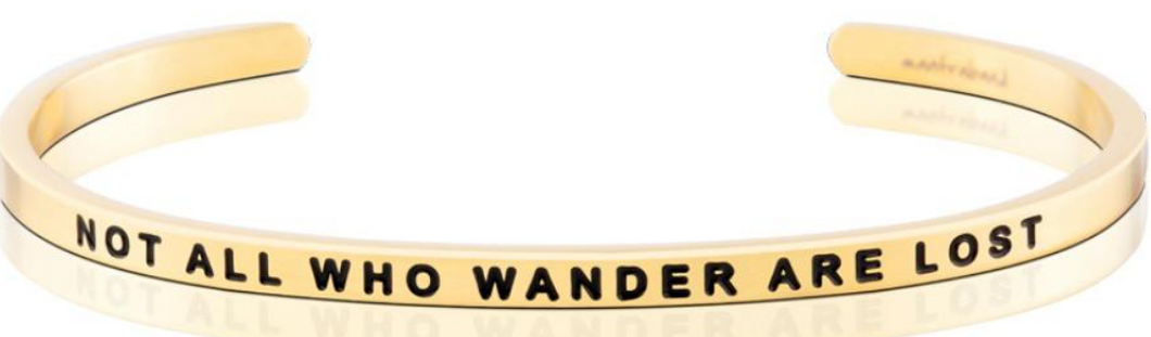 Not All Who Wander Are Lost - Gold