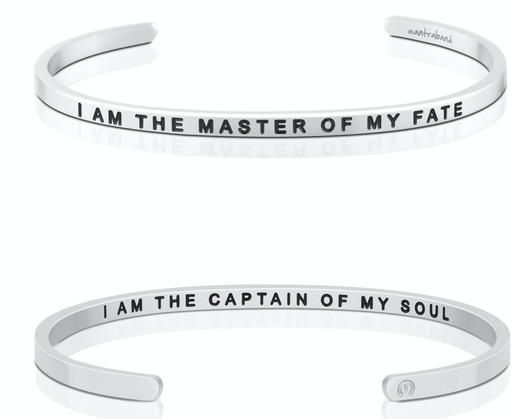 I Am The Master Of My Fate / I Am The Captain Of My Soul - Silver
