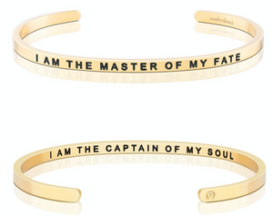 I Am The Master Of My Fate / I Am The Captain Of My Soul - Gold