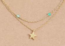 Load image into Gallery viewer, Dainty Layered Star Bead Necklace