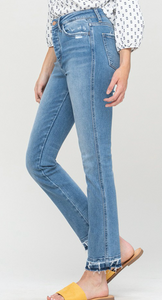 Battle Scars High Rise Straight Jeans