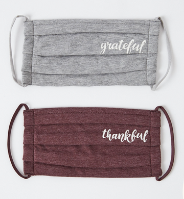 Grateful/Thankful Mask 2 Pack