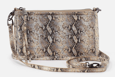 Cadence Convertible Crossbody in Glam Snake