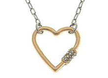 Load image into Gallery viewer, Leela Mini Heart Screw Lock Necklace