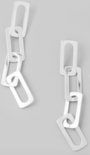 Load image into Gallery viewer, Rectangle Link Earrings