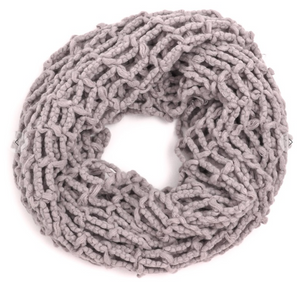 Mesh Knit Infinity Scarf